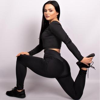 Костюм спортивный Set Black Cat Комплект: лосины + топ черный push it