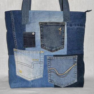 Джинсовая сумка ′Карманы′