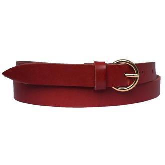 Classic20с1 женский кожаный красный узкий ремень кожанный пояс натуральная кожа