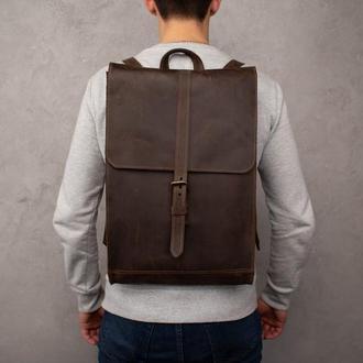 Рюкзак Hant, мужской кожаный рюкзак, повседневный рюкзак, кожаный рюкзак для путешествий