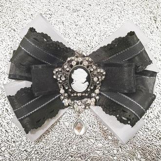 Брошь галстук, трансформер со съемной серединой камея, эксклюзивное украшение.