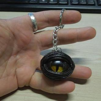 "Брелок ""Глаз Дракона"" шар №1 натуральная кожа"