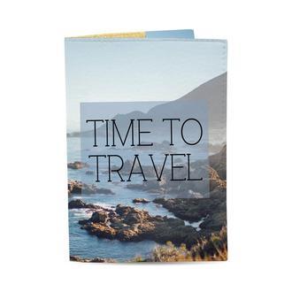 Обложка на паспорт Time to travel