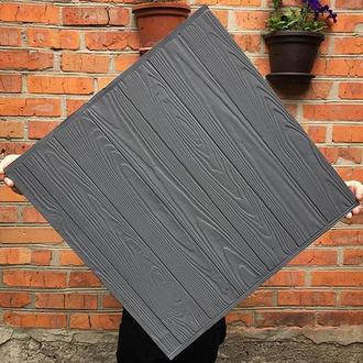 Деревянный фотофон Серый фактурный