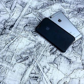 Бетонный фотофон Белый с черными прокрасками
