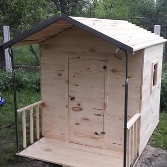 Детский деревянный игровой домик