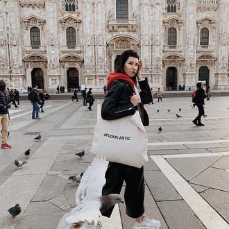 Эко сумка с хештогом #fuckplastic