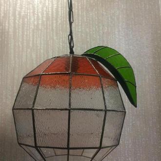 Светильник витражный «Апельсин» витраж Тиффани