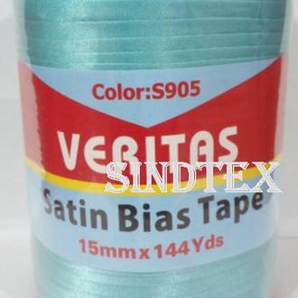 Косая бейка атласная Veritas,S-905 голубая (130м)