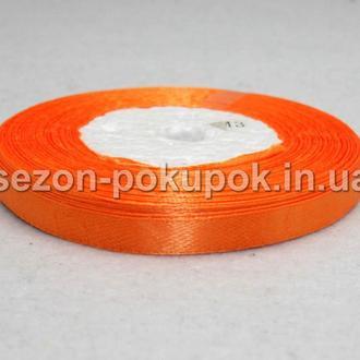 Лента атласная ширина 0,6 см. (23 метра) цвет - оранжевый