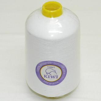 Текстурированные Kiwi (киви) нитки для оверлока 150D/1 (20.000м.), белые