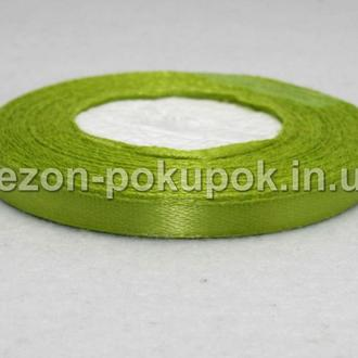 Лента атласная ширина 0,6 см. (23 метра)  цвет - оливковый