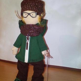 """Лялька у стилі Снежка"""" Михей"""" інтер'єрна іграшка ручної роботи"""