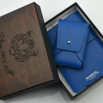 Кожаный именной набор, Оригинальный подарок, Ежедневник, Блокнот кожаный, блокнот со съемной блоком