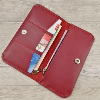 Кожаный кошелёк-портмоне из натуральной кожи!