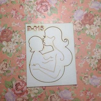 Чипборд ′Мама и ребенок в слинге′
