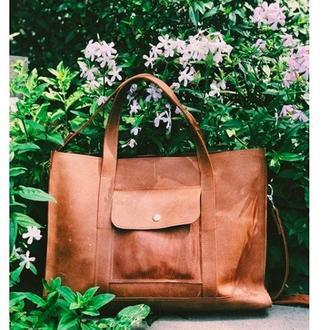 Кожаная сумка, подарок девушке, повседневная сумка, удобная сумка из кожи