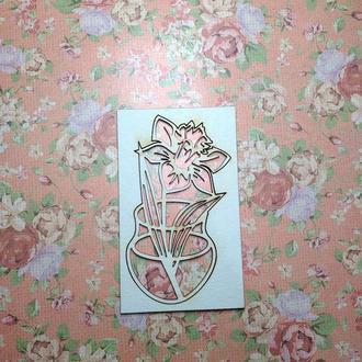 Чипборд ′Ваза с цветами №6′