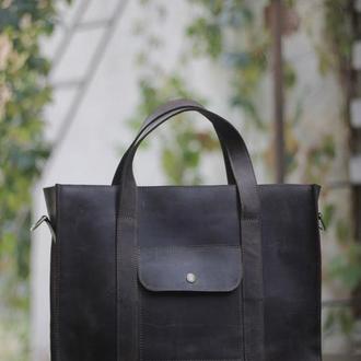Кожаная сумка, практичная сумка повседневная сумка, удобная сумка из кожи