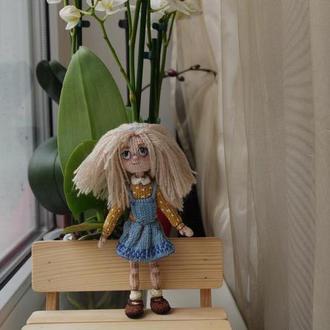 Вязаная кукла амигуруми Оливия