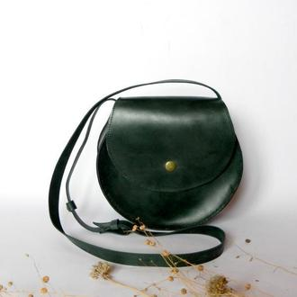 Кожаная сумка «Helga», зеленый