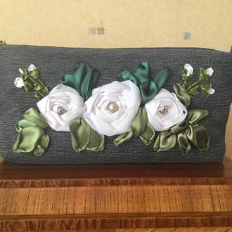 Косметичка  «Белые розы».