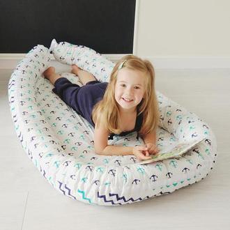 Кокон для ребенка (гнездышко, бебинест) Nautical