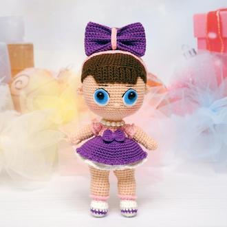 Кукла ЛОЛ. Вязаная игрушка. Амигуруми.