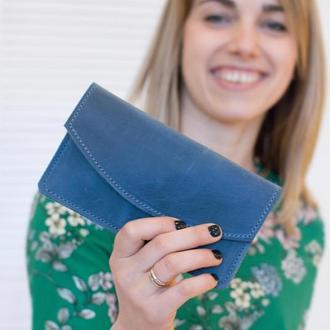 Кожаный чехол конверт для телефона айфона с росписью или тиснением