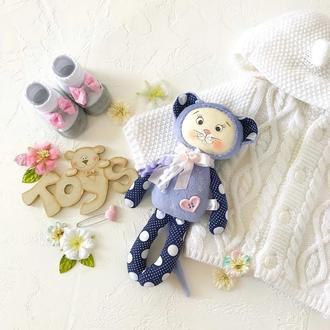Мышка. Текстильная игрушка. Игрушка малышу.