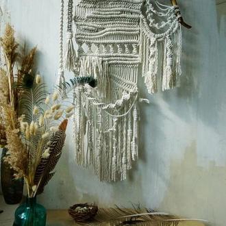 Настенное панно макраме в стиле бохо, абстракция