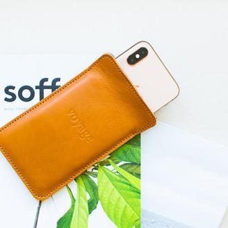 Кожаный чехол для iPhone Xs, Xr & 8 Plus // LAPORT (Brown)