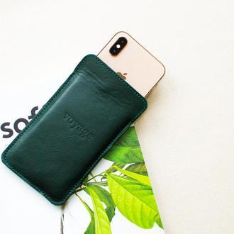 Кожаный чехол для iPhone Xs, Xr & 8 Plus // LAPORT (Green)
