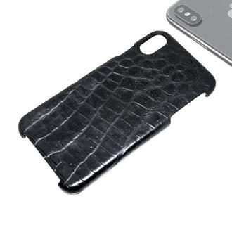 Чохол з справжньої шкіри крокодила для iPhone Xs Max.