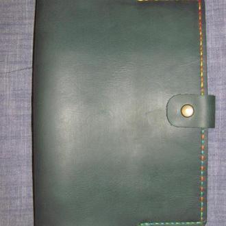 стильна обложка обкладинка для блокноту чи щодениика формат А5 зелений + мультиколор