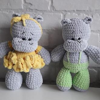 Бегемоты игрушки Happy, 2 шт!