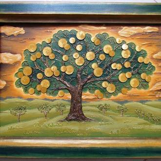 Монетне дерево Рельєфна картина