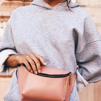 Набедренная сумка, кожаная сумка на пояс, сумка на пояс женская, молодежная