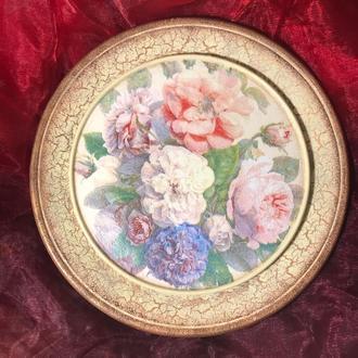 Декоративная настенная тарелка «Винтаж»