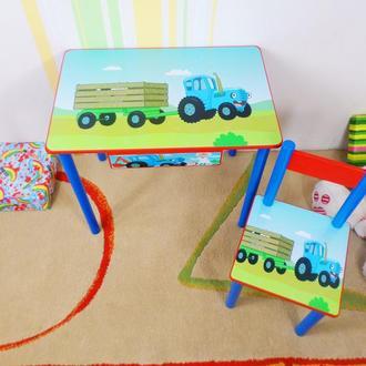 """Стол и Стул """"Синий Трактор"""" комплект детской мебели от 1 до 6 лет (варианты)"""