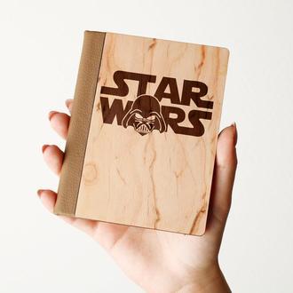 """Деревяная обложка на паспорт """"STAR WARS"""", паспортная обложка, обложка для паспорта с дерева"""