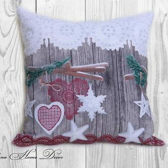 Декоративна подушка для святкового декору