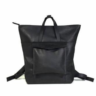 Рюкзак из натуральной кожи, украинский рюкзак, оригинальный рюкзак