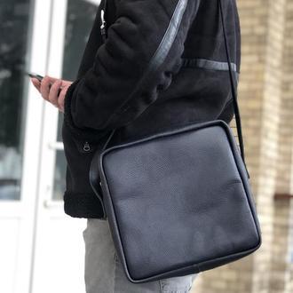Мужская сумка на плечо. Кожаная сумка. Мужская сумка из натуральной кожи