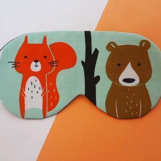 Маска для сна - белка, маска для сна - медведь, белка , маска для сна - медведь, подарок девушке