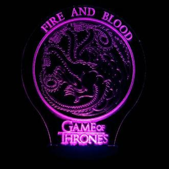 Дом Таргариенов, ночник светильник лампа, Игра престолов, Game of trrones, необычный подарок