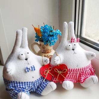 Інтер'єрні зайці з флісу в знімних штанцях