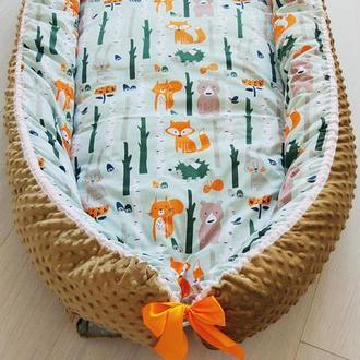Кокон для ребенка (гнездышко, бебинест) Forest Animals