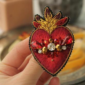 "Брош  ""Sacred heart"""