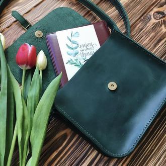 Женская сумка Art Pelle зеленая (Crazy Horse)